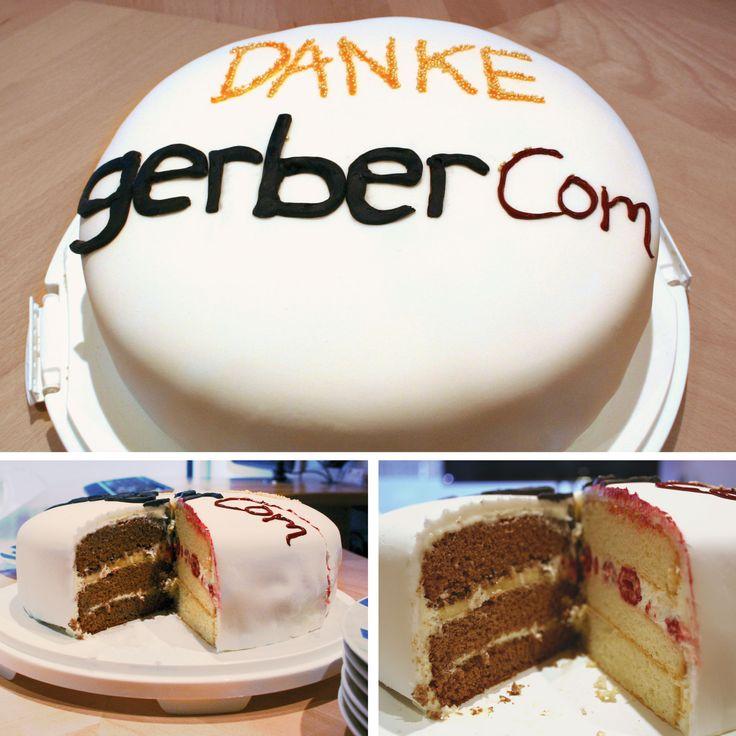 Die gerberCom. Torte  #rezept #torte #download #fondant #schokolade #vanille #banane #himbeeren