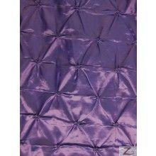 $6.95/yd - Button Style Taffeta Fabric / Purple / Sold By The Yard