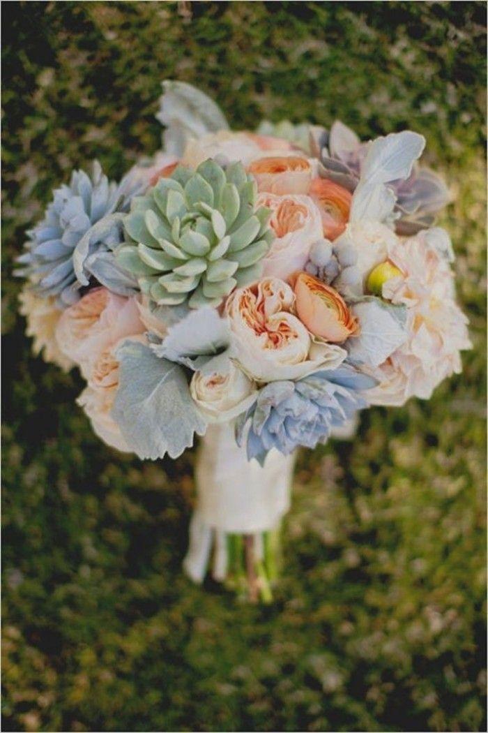 ramo de novia con Peonías colores