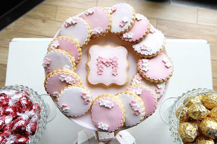 Pretty in Pink Baptism Dessert Table via Kara's Party Ideas | KarasPartyIdeas.com (16)
