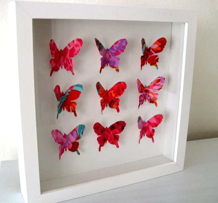 Designer fabric butterfly frames