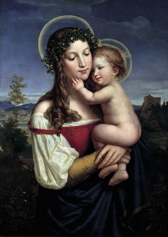 Carl Herpfer (1836-1897): Madonna and Child (ca.1825, 543×764)