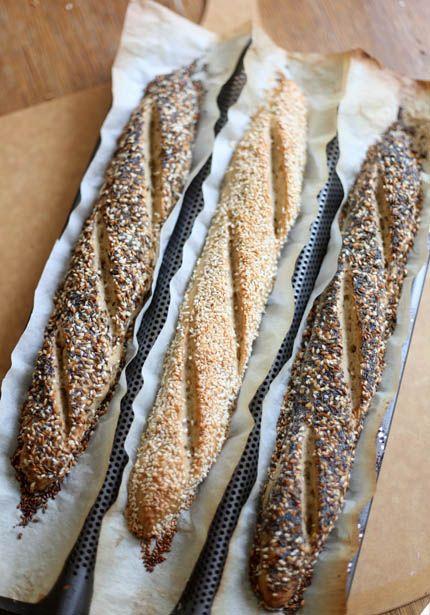 Gluten-free Baguette using @KingArthurFlour gluten-free AP + ancient grain blend. Yum!  http://www.artisanbreadinfive.com/2010/06/01/gluten-free-baguettes-egg-free-and-a-king-arthur-gluten-free-flour-giveaway
