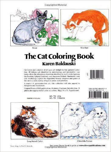 The Cat Coloring Book Dover Nature Karen Baldauski Books