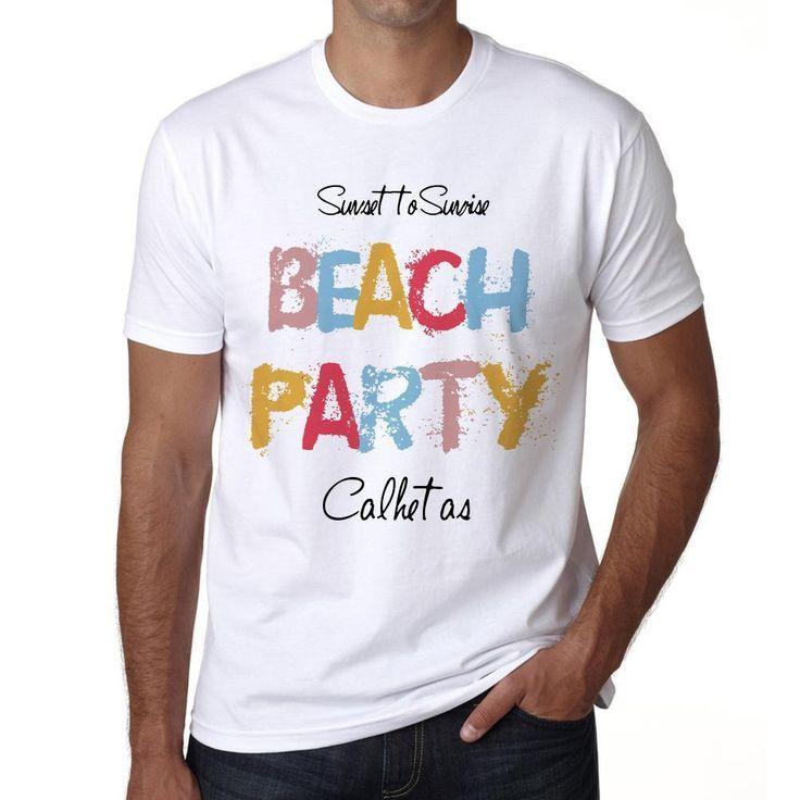 Calhetas, Beach Party, White, Men's Short Sleeve Rounded Neck T-shirt