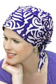 easy to tie head scarves for hair loss and cancer patients