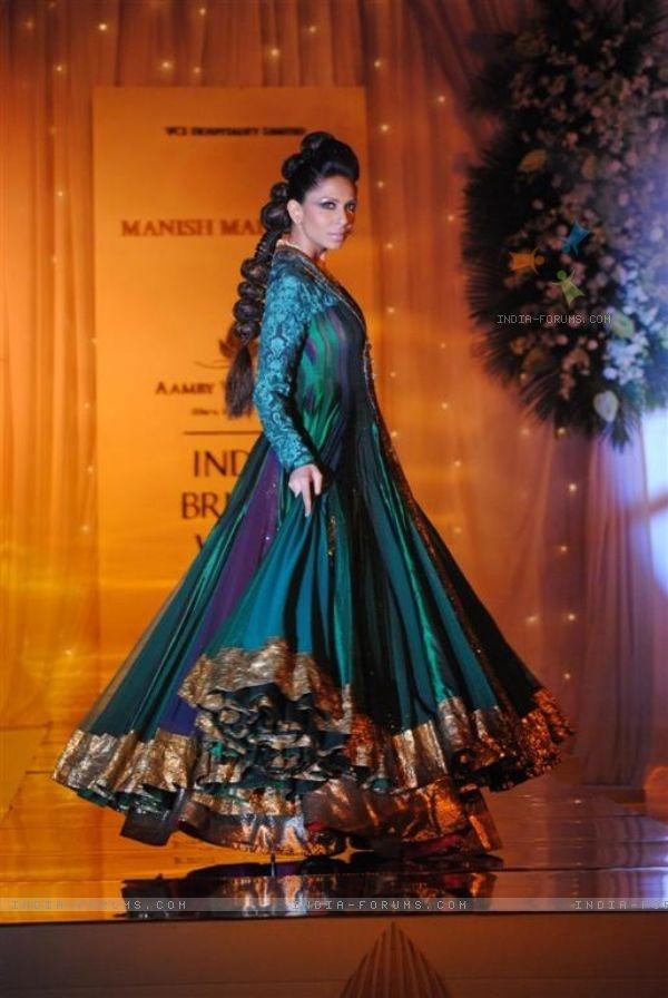 Model Walks for fashion designer Manish Malhotra at Aamby Valley Indian Bridal Week day 5