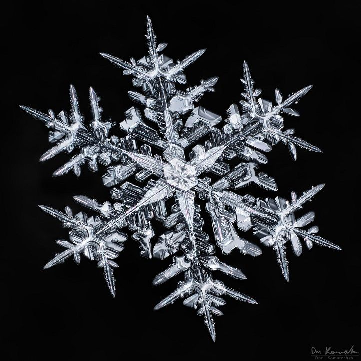 Photographer Don Komarechka uses his camera lens to explore a world that can't be seen by the naked eye, bringing us extraordinary images of the brilliant patterns in crystalized snowflakes.