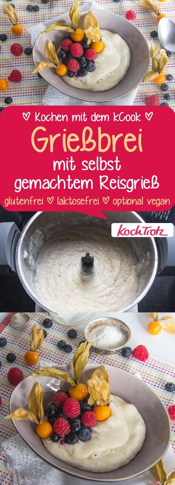 lecker Grießbrei mit selbst gemachtem Reisgrieß  #glutenfrei #laktosefrei #fructosearm #vegan #histaminarm #eifrei #sojafrei