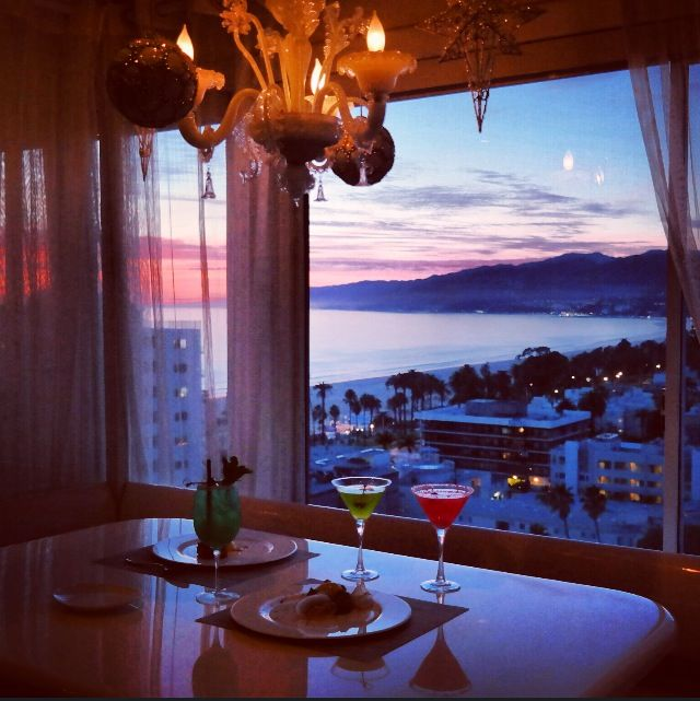 View from The Penthouse at The Huntley Hotel in Santa Monica