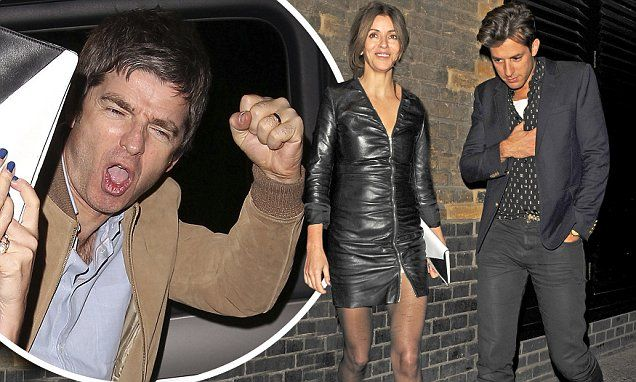 Noel Gallagher celebrates Q Awards win with wife Sara Macdonald