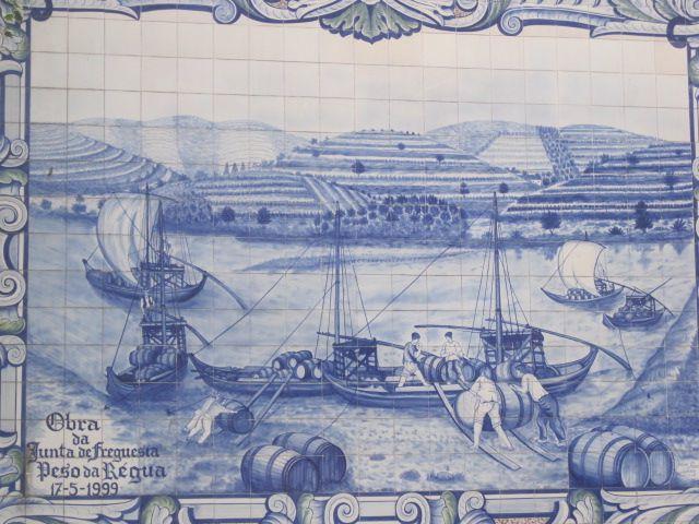 Azulejo tiled panel
