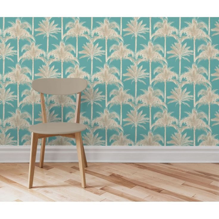 Fine Decor Miami Palm Tree Wallpaper Teal - delighted to have finally chosen and bought this one!