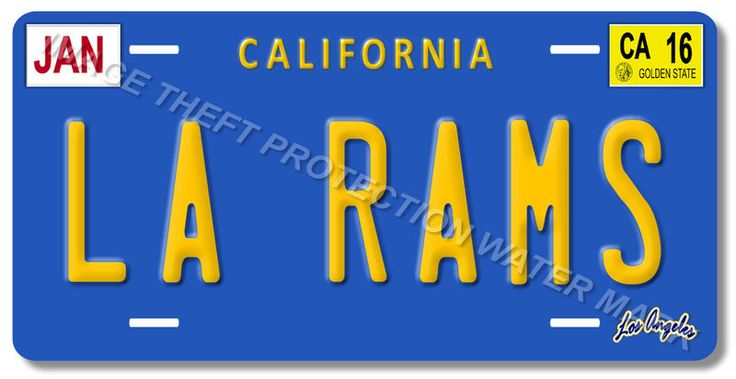LA RAMS Los Angeles California NFL Football Team Aluminum Vanity License Plate 2