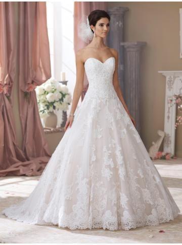 abiti da sposa da sposa principessa del merletto