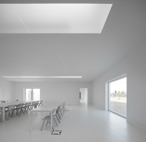All White Class Room Inside The Centro Escolar In Villa Nova De Barquinha Portugal