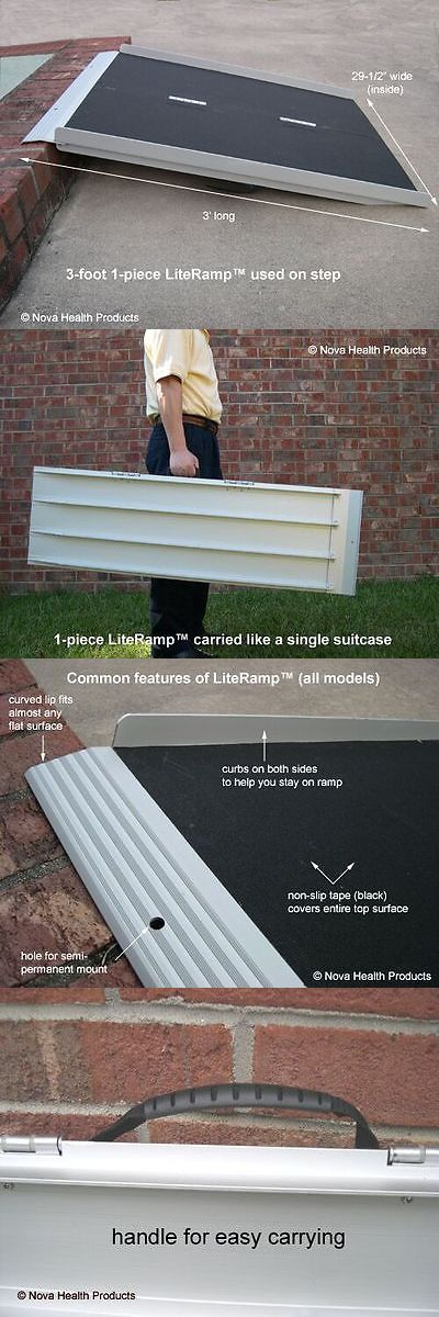 Access Ramps: 3 Wheelchair Ramp | Scooter Ramp | Literamp Portable Handicap Ramps BUY IT NOW ONLY: $129.0