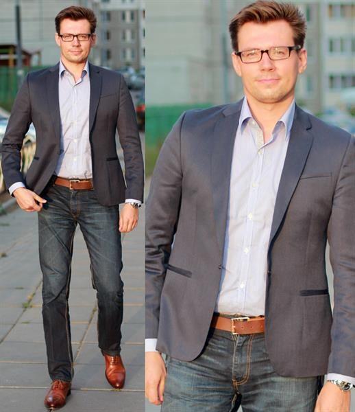 Летний пиджак мужской стиль casual