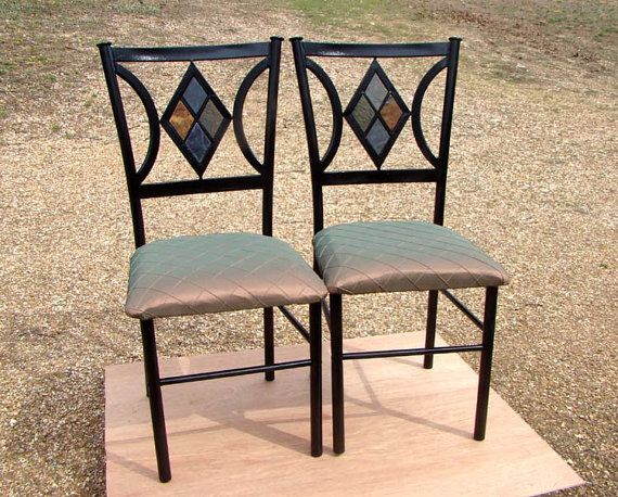 Set of 2 Diamond Dining Room Chairs with Diamond by