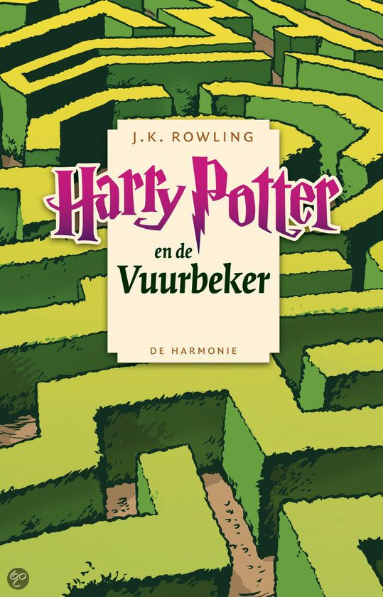 #4 - Harry Potter and the Goblet of Fire -- The Dutch paperback covers for the Harry Potter series.