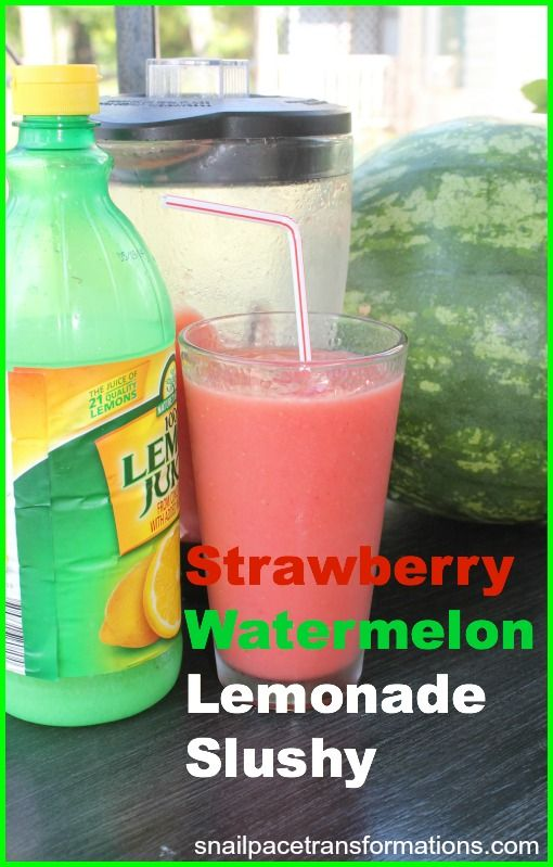 Strawberry Watermelon Lemonade Slushy is one of my children's favorite summer time drinks. Full of fresh fruit and only a touch of honey, it is healthy for them, so I don't mind giving in to the request for this summer time treat.