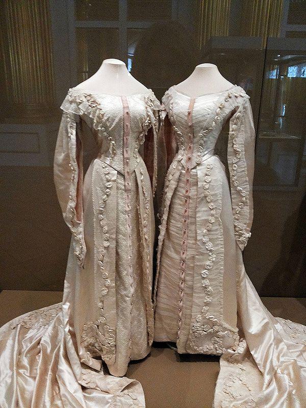 Court dresses of Grand duchesses Olga and Tatiana. 1913 ...