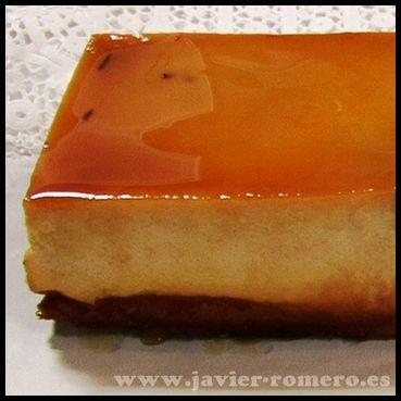 Flan de queso casero, el mas fácil del mundo, receta escrita - Javier Romero
