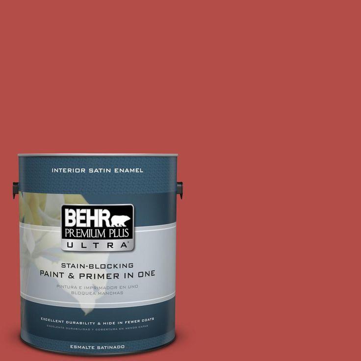 BEHR PREMIUM PLUS ULTRA 1 gal. #T17-18 Hot and Spicy Satin Enamel Interior Paint