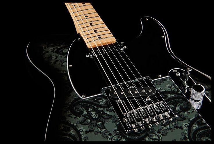 fender black paisley telecaster electric guitar colour black paisley fender guitar thomann. Black Bedroom Furniture Sets. Home Design Ideas
