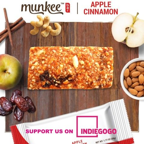 First ever flavored au-natural vegan energy bar 'Munkee bar' to launch crowdfunding campaign at Indiegogo