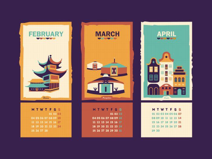 2013 Calendar (Chinese - Mongolian house(s) Wip  by Szende Brassai / Adline