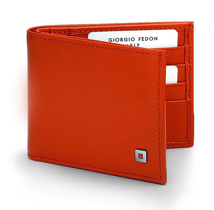 Orange wallet - Mini - GIORGIO FEDON 1919 Wallets - Boston & Boston by BRAND