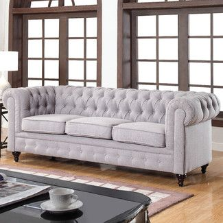 "<strong class=""js-codeception-manufacturer"">Madison Home USA</strong> Classic Tufted Linen Fabric Chesterfield Sofa"