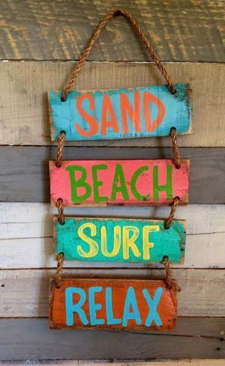 Nautical Plaques Beach Directional Signs