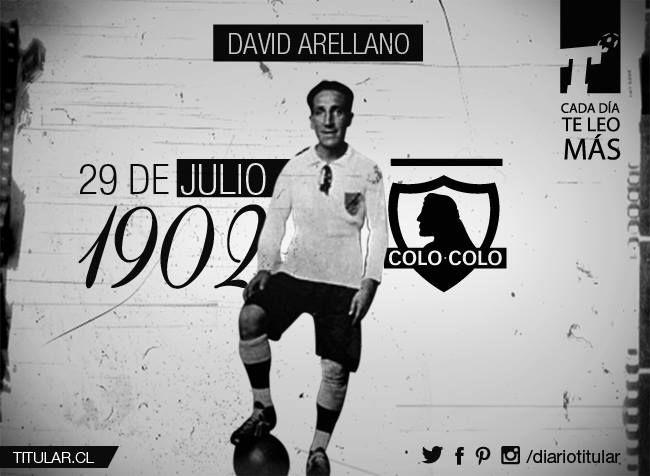 La nación colocolina recuerda a David Arellano en un nuevo aniversario de su nacimiento y por eso desde acá homenajeamos a un futbolero de verdad. Déjale tu saludo acá!  Titular, cada día te leo más | www.titular.cl