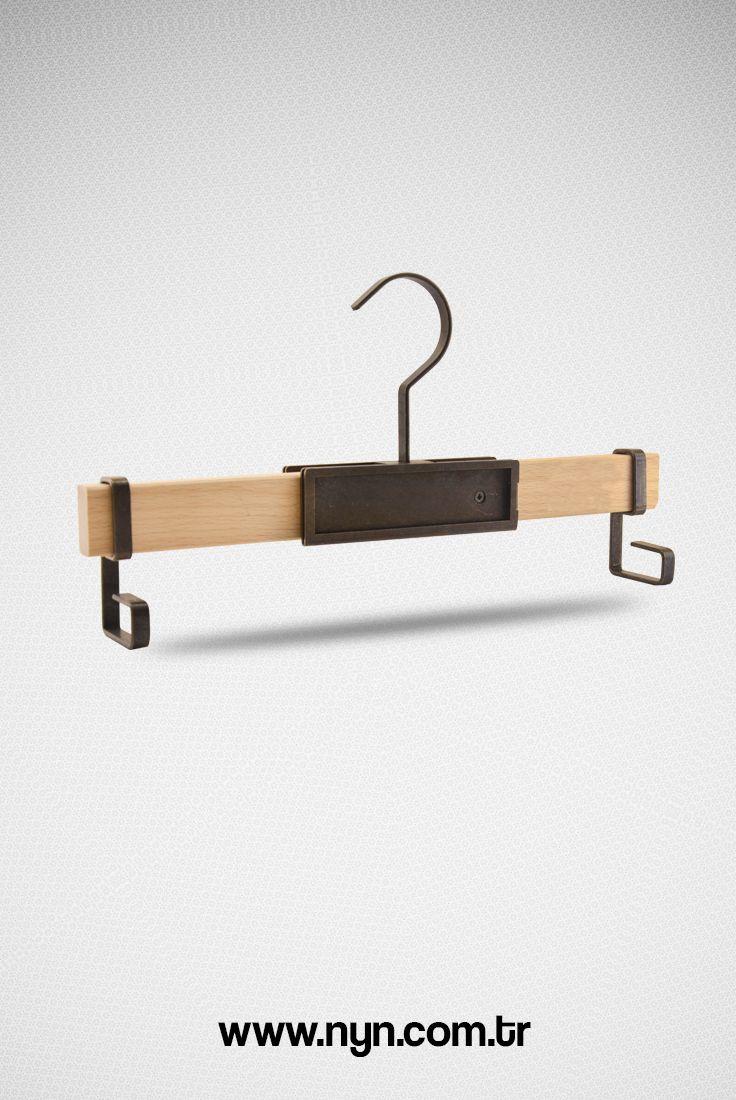 Luxury wooden pant hanger, %100 hand made, raw beech wood