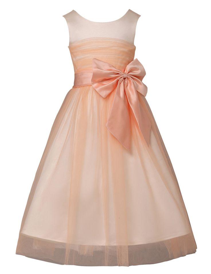 Yafex Damen Hellorange Kind Maedchen Hochzeitskleider 23