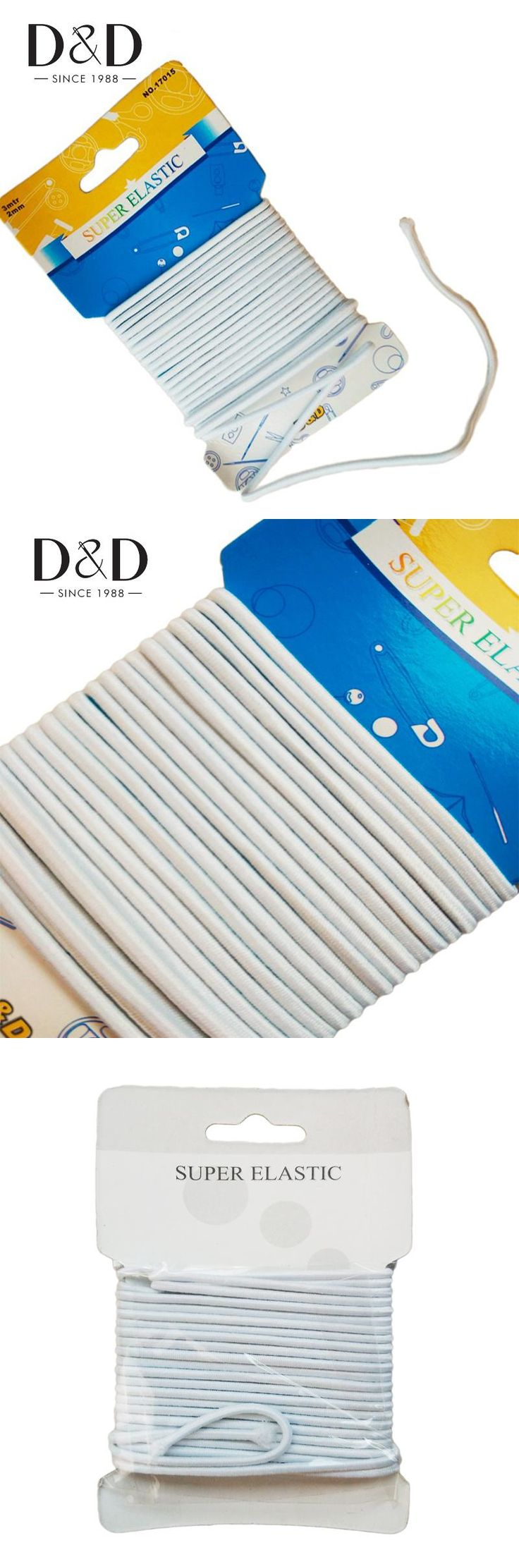 [Visit to Buy] D&D 2mm Super Elastic Band Rubber Clothing Accessories Sewing Elastic Thread White 3meters #Advertisement