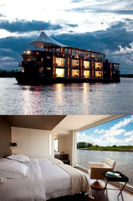 Floating Hotel - Peru - Amazon River Oh yeah, This is on the top of the list! Just starts at $2550. =)                                                                                                                                                     Mehr