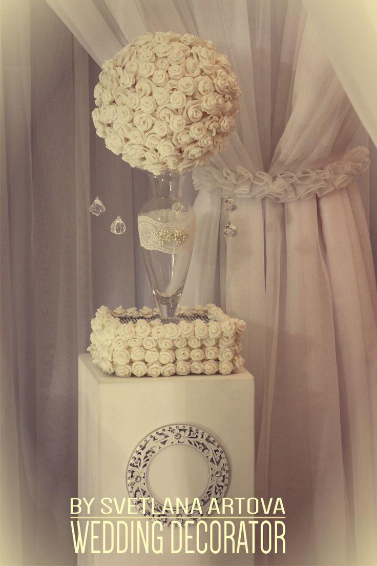 Калининграде, обучение свадебному декору. Шикарная свадьба. Драпировка, свадебная драпировка, флористика, президиум, белая свадьба.