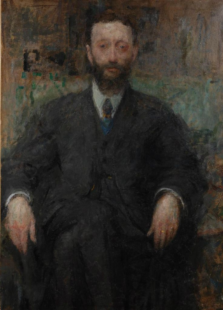 Portrait of a man by Olga Boznańska, 1918