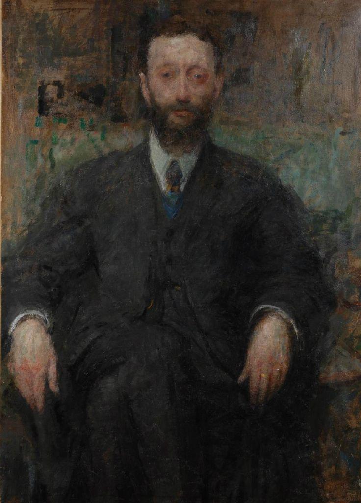 Portrait of a man by Olga Boznańska, 1918