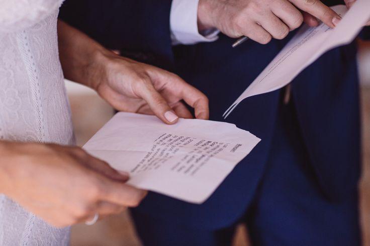 Last reading of her vows before the ceremony - Park Hyatt Melbourne
