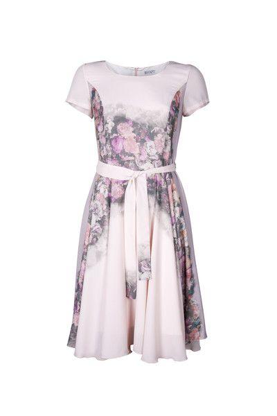 Rozkloszowana sukienka Franczesca  - LATTORE - Sukienki koktajlowe