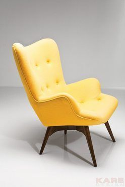 Kare  Arm Chair Angels Wings Yellow Coffee