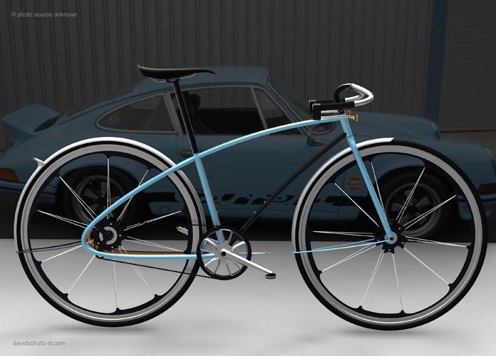 Porsche 911 Concept BicycleBicycles Design, Bikes Design, Porsche Design, Porsche 911, David Schultz, Design Concept, Porsche Bikes, Products Design, Industrial Design
