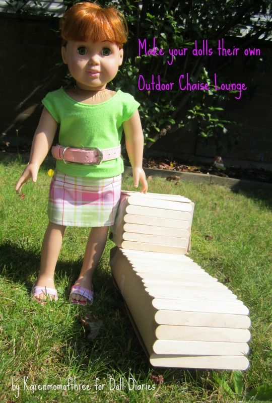 How to make a doll lounge chair by Doll Diaries
