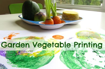 garden vegetable printing--I also use green peppers, mushrooms, apples, and pears for a variety of shapes