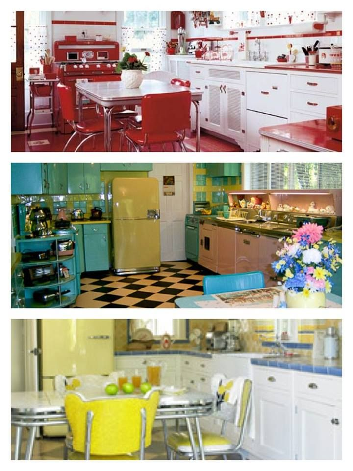 3 Retro Kitchens. Weu0027re Partial To The Cherry Red, Of Course,
