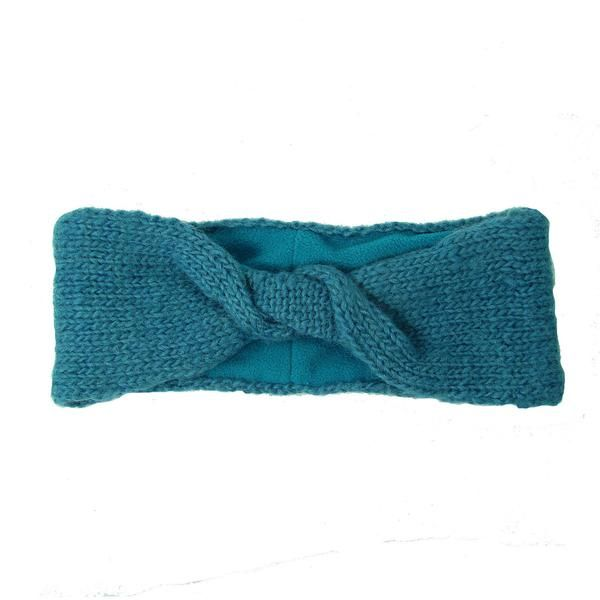 Lined Twist Headband - Teal Handmade and Fair Trade